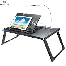 amazing computer lap desk design laptop stand adjule table ergonomic notebook with power bank fan