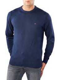 tommy hilfiger pima cotton cashmere sweater peacoat zoom