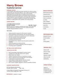 Free Customer Service Resumes Customer Service Cv Resume