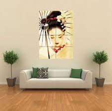 dazzling giant wall art amazon com geisha japanese new giant wall art print poster g347 posters prints canvas uk stickers on wall decor prints posters with enjoyable ideas giant wall art sexy lady vinyl sticker transfer