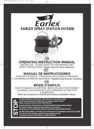 Earlex Spray Station Hv3500 Manualzz Com