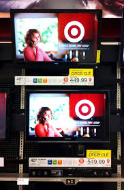 vizio tv at target. they\u0027re both lcds, 1080p, and in the neighborhood of 40\u2033. they were also eco models that only cost $17 a year to run, so very low on vizio tv at target