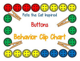 Pete The Cat Inspired Buttons Behavior Clip Chart