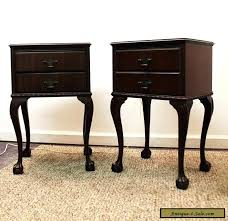 antique nightstands for sale vintage nightstand pair of mahogany ball claw foot 1 h4
