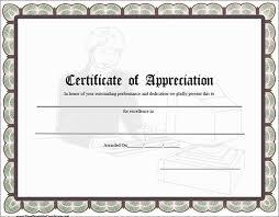 Printable Appreciation Certificates 28 Images Of Word Certificate Of Appreciation Template Leseriail Com