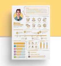 Resume Infographic Template Lcysne Com