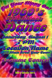 Tie Dye 1960s Poster Invitation Template Postermywall
