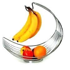 fruit basket with banana holder home storage fruit bowls baskets basket with banana hook wooden holder