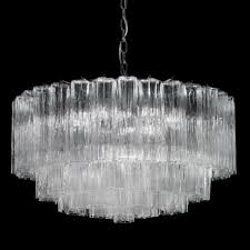 holly murano glass chandelier 6 lights transpa and chrome