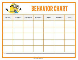 Behavior Chart Template For Word Free Printable Behaviour Charts Template Business Psd