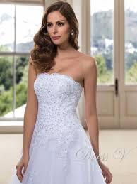 hot sale a line strapless wedding dresses 2017 elegant appliques