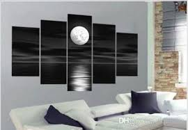 oil paintings on canvas black white home decoration picture modern abstract landscape oil painting wall art  on canvas black and white wall art with 2018 oil paintings on canvas black white home decoration picture