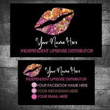 Lip Sense Business Cards Senegence Business Card Lipsense Contact