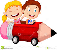 riding in car clipart.  Car Happy Children Cartoon Riding Pencil Car With Riding In Car Clipart