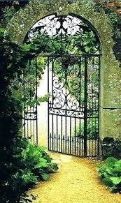 garden arch with gate metal arches gates full image for argos