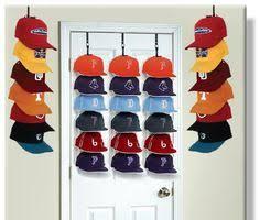 baseball caps on wall | BASEBALL CAP DOOR / WALL STORAGE RACK (5 HAT RACKS