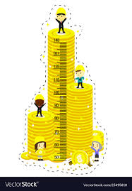 Coin Chart For Kids Kids Height Chart With High Coin Tower