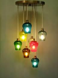 colored glass pendant lighting. Alluring Multiple Pendant Lights Modern Multi Colored Glass Light Ideas Pendants Lighting N