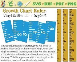 Diy Growth Chart Stencil Growth Chart Ruler Stencil File Growth Chart Ruler Vinyl