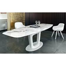 calligaris table orbital ceramic white marble top extendable dining calligaris atelier round table