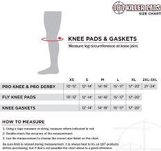 187 Killer Pads Size Chart Knee Skatepro