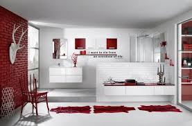 Image White 39 Cool And Bold Red Bathroom Design Ideas Digsdigs Red Bathroom Designs Charcoal Grey Bedroom Designs Red Bathroom Designs Jo Home Designs