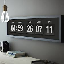 personalised special time date vintage flip clock print