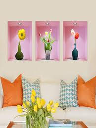 flower vase wall murals decals share