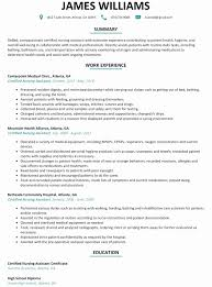 Cna Sample Resume Trend Certified Nursing Assistant Resume Templates
