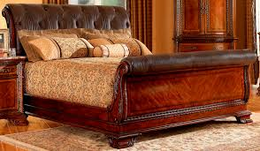 King Sleigh Bed Bedroom Sets Bedding Sleigh Bed King Size Digihome Porter Cherry King Sleigh