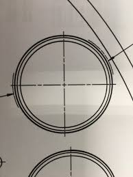 Circles have a line property, as you noticed. Anyone Have Tips On How To Make These Dashed Curved Line Segments On Either Side Of The Hdrawn Hole Solidworks