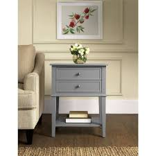 furniture accent table with drawers console pedestal tables wicker basket storage small corner drawer black