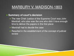 sample college marbury vs madison essay marbury vs madison as the government was newly establishing its stronghold on the nation forging its way to a powerful republic and instituting precedents