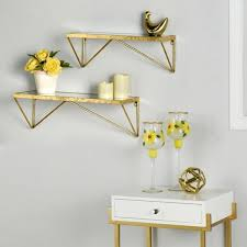 stylewell gold metal wall mount
