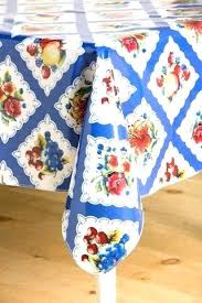 round oilcloth tablecloth table