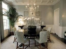 lavish dining room with chandelier