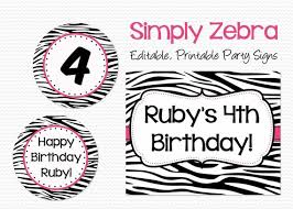 Welcome Signs Pink And Zebra Birthday Party Decoration Bridal