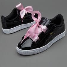 puma shoes for girls. girls unique designing puma basket heart patent shoes (puma black) - new style online m70p7756 for r