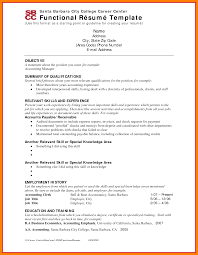 Functional Resume Example Mesmerizing And Of - Sradd.me
