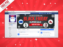 black friday cover picture free psd facebook cover template