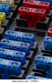 different regular size blade type fuses in car fuse box shallow different regular size blade type fuses in car fuse box shallow depth of field