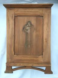 small wood cabinet details about vintage cupboard drawer 2 shelves side lock no key with many small wood
