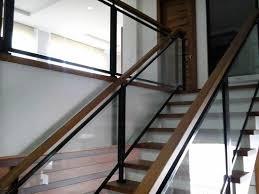 glass stair railing details