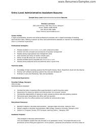 Entry Level Office Assistant Resumes Administrative Assistant Cover Letter Entry Level