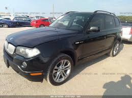 Bmw's first stab at a compact crossover felt harsh and unrefined, and its the interior of the 2008 bmw x3 carries the new style introduced in 2007. Used Car Bmw X3 2008 Black For Sale In Justin Tx Online Auction Wbxpc934x8wj10803
