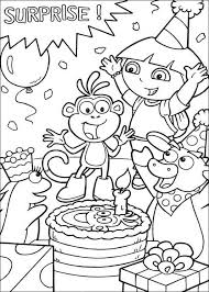 Dora And Boots Color In Coloring Pages Hellokids Com The Explorer