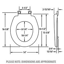 bemis round toilet seat dimensions