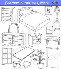 7 amazing bedroom clipart black and white