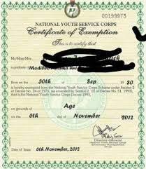 How To Get Nysc Certificate Of Exemption Letter Of Exclusion From