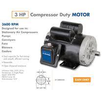 3 hp compressor duty motor 230 Volt Motor Wiring Diagram for 2 HP Smith And Jones Electric Motors Wiring Diagram #49
